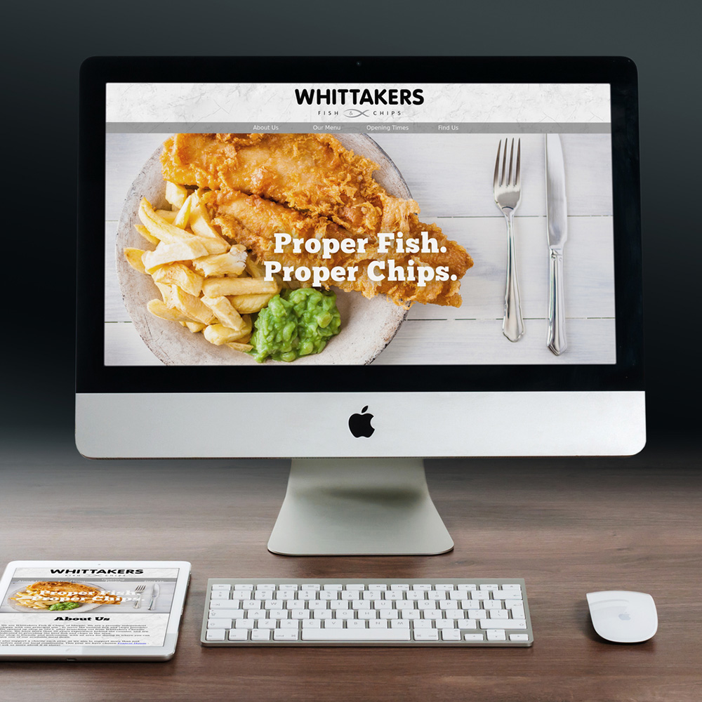 Whittakers Marple Chip Shop Fully Responsive Website Design